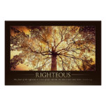 RIGHTEOUS - Christian Motivational Poster