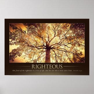 RIGHTEOUS - Christian Motivational Poster