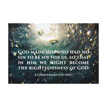 Righteous of God 2 Corinthians 5:21 Scripture Art Canvas Print