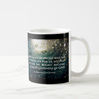 Righteous of God 2 Corinthians 5:21 Scripture Art Coffee Mug