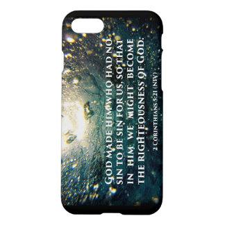 Righteous of God 2 Corinthians 5:21 Scripture Art iPhone 7 Case