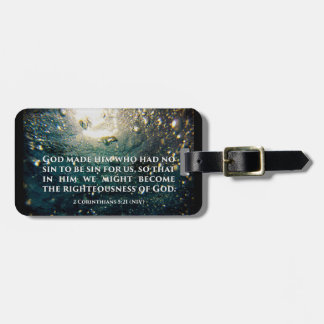 Righteous of God 2 Corinthians 5:21 Scripture Art Luggage Tag
