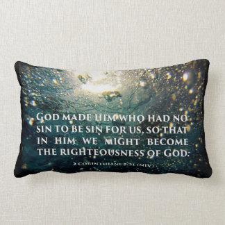 Righteous of God 2 Corinthians 5:21 Scripture Art Throw Pillow