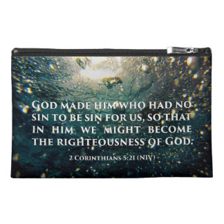 Righteous of God 2 Corinthians 5:21 Scripture Art Travel Accessory Bag