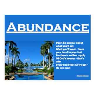 RIGHTEOUS RHYMES - Abundance - Postcard