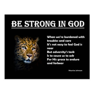 RIGHTEOUS RHYMES - Be Strong in God - Postcard
