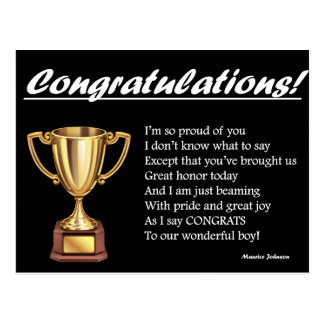 RIGHTEOUS RHYMES - Congratulations - Postcard