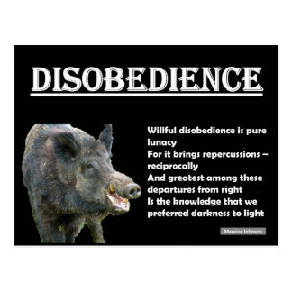 RIGHTEOUS RHYMES - Disobedience - Postcard
