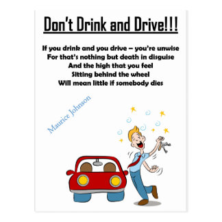 RIGHTEOUS RHYMES - Don't Drink & Drive -  Postcard