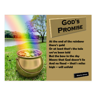 RIGHTEOUS RHYMES - God's Promise - Postcard