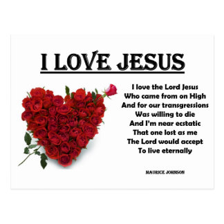 RIGHTEOUS RHYMES - I Love Jesus - Postcard