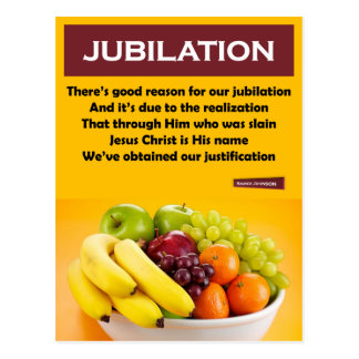 RIGHTEOUS RHYMES - Jubilation - Postcard