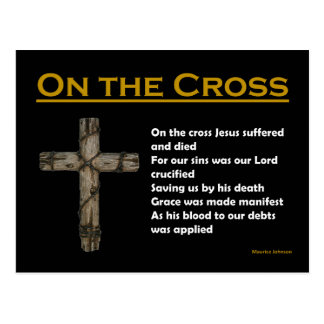 RIGHTEOUS RHYMES - On the Cross -  Postcard