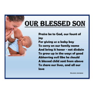 RIGHTEOUS RHYMES - Our Blessed Son - Postcard
