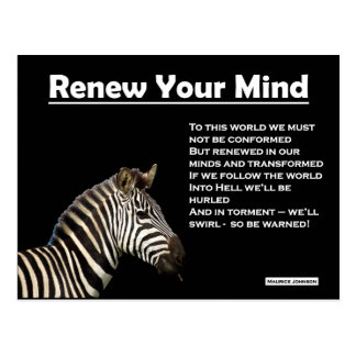 RIGHTEOUS RHYMES - Renew Your Mind - Postcard