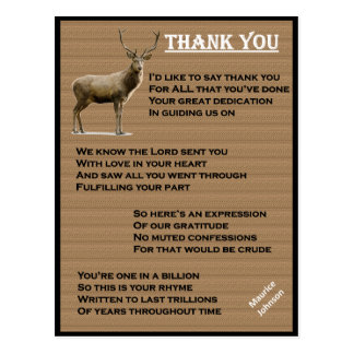 RIGHTEOUS RHYMES - Thank You - Postcard