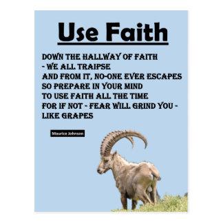 RIGHTEOUS RHYMES - Use Faith - Postcard