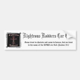 Righteous Rodders Car Club Bumper Sticker