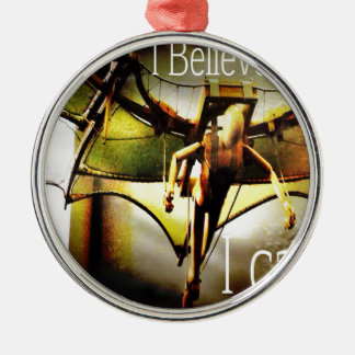 RightOn I believe Round Metal Christmas Ornament