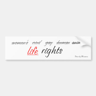 rights1, Items by Mariposa Bumper Sticker