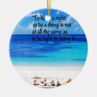 Rights and responsibilities of an American Ceramic Ornament