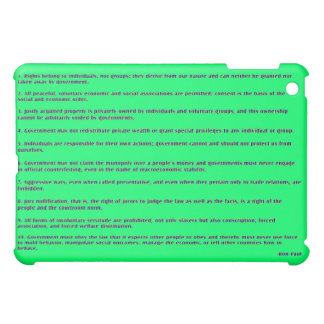 """""""RIGHTS"""" by Ron Paul iPad Mini Covers"""