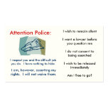 Rights card business card