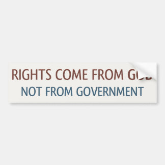 Rights From God Bumper Sticker