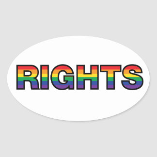RIGHTS OVAL STICKER