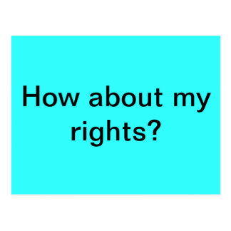 Rights Postcard