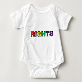 RIGHTS vertical design Baby Bodysuit