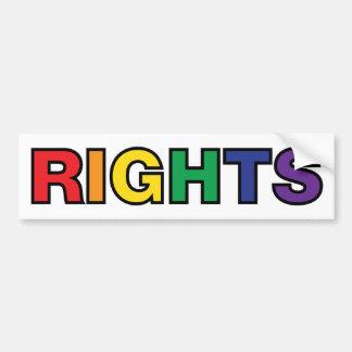 RIGHTS vertical design Car Bumper Sticker