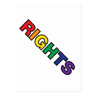 RIGHTS vertical design Postcard