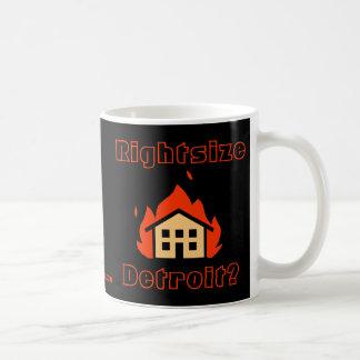 ¿Rightsize Detroit? Tazas