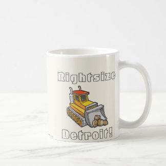 ¡Rightsize Detroit! Tazas