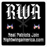 Rightwingamerica.com Reloj Cuadrado