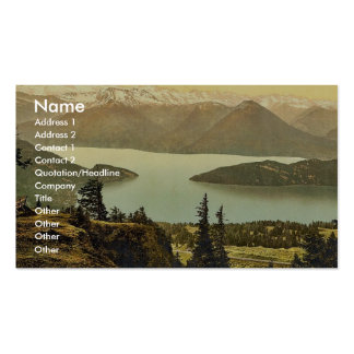 Rigi Rothhorn, view of Vitznau and the Alps, Rigi, Double-Sided Standard Business Cards (Pack Of 100)