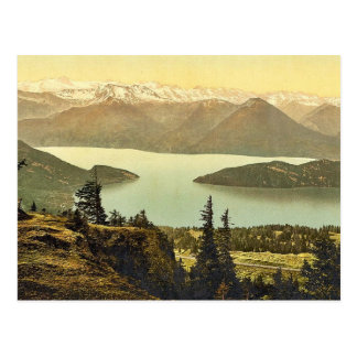 Rigi Rothhorn, view of Vitznau and the Alps, Rigi, Postcard