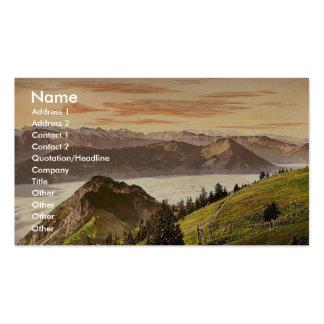 Rigi Scheidegg and Lake Lucerne, Rigi, Switzerland Double-Sided Standard Business Cards (Pack Of 100)
