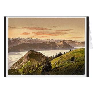 Rigi Scheidegg and Lake Lucerne, Rigi, Switzerland Greeting Card