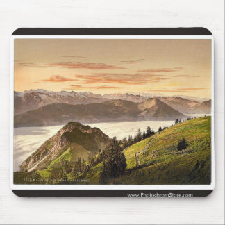 Rigi Scheidegg and Lake Lucerne, Rigi, Switzerland Mouse Pad