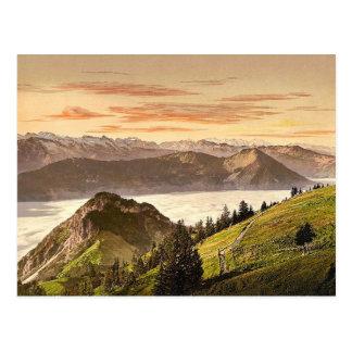 Rigi Scheidegg and Lake Lucerne, Rigi, Switzerland Postcard