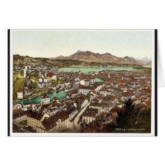 Rigi, seen from the Gutsch, Lucerne, Switzerland c Greeting Card