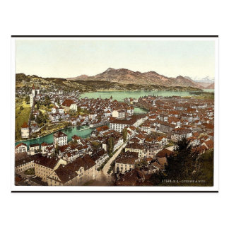 Rigi, seen from the Gutsch, Lucerne, Switzerland c Postcard