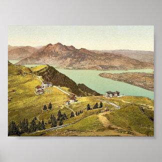 Rigi Staffel y Pilatus Rigi classi de Suiza Poster