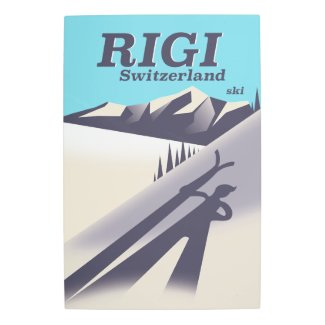 Rigi Switzerland ski travel poster
