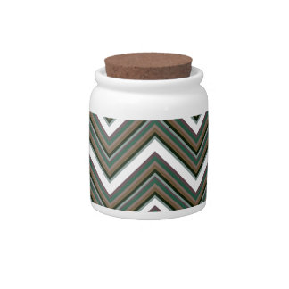 Rigid Wedged Chevrons Candy Jars