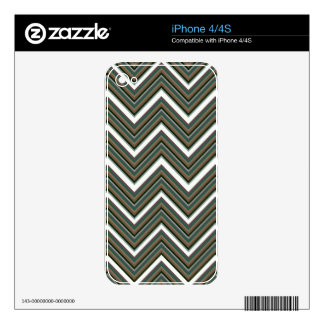 Rigid Wedged Chevrons Skin For iPhone 4