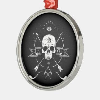 Rigidez cadavérica adorno navideño redondo de metal