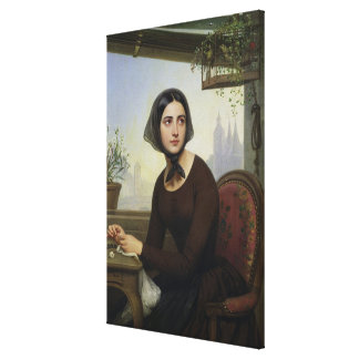 Rigolette Trying to Distract herself Canvas Print